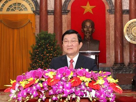 Chủ tịch nước Trương Tấn Sang tiếp Bộ trưởng Quốc phòng Hàn Quốc - ảnh 1