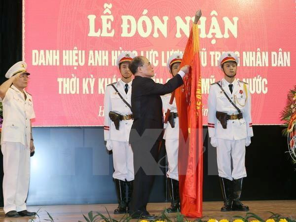 Chủ tịch Quốc hội trao danh hiệu Anh hùng cho Học viện An ninh - ảnh 1
