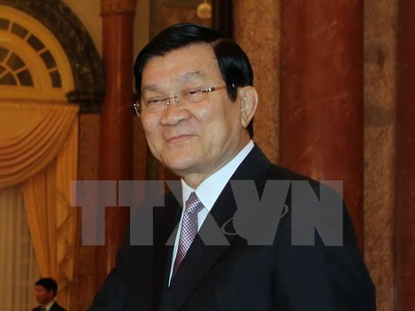 Президент СРВ Чыонг Тан Шанг принимает участие в саммите стран Азии и Африки - ảnh 1
