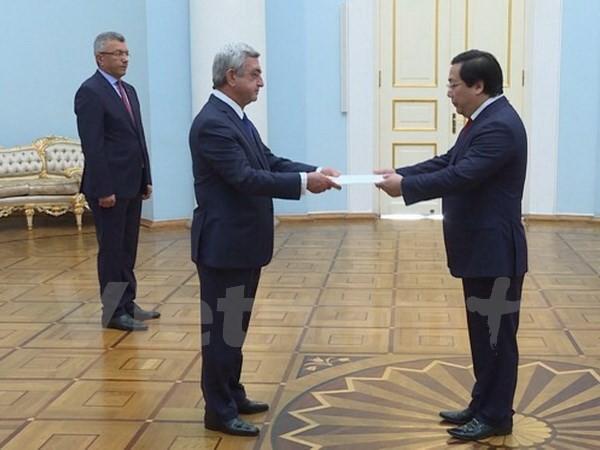 Вьетнам желает активизировать сотрудничество с Арменией - ảnh 1