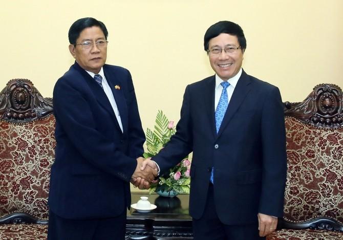 Вице-премьер СРВ принял главу Комитета Мьянмы по борьбе с коррупцией - ảnh 1