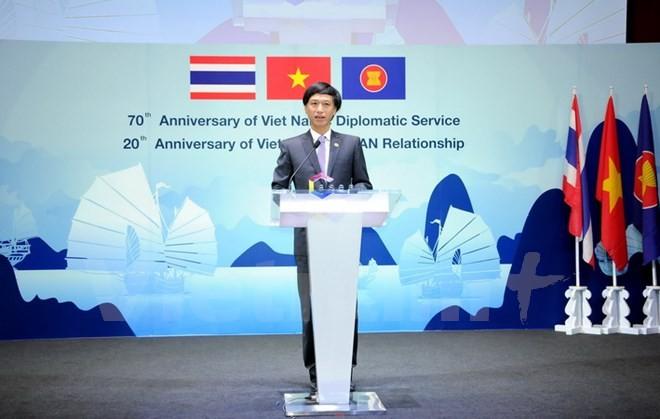 Le 20ème anniversaire de l'adhésion du Vietnam à l'ASEAN célébré en Thailande - ảnh 1