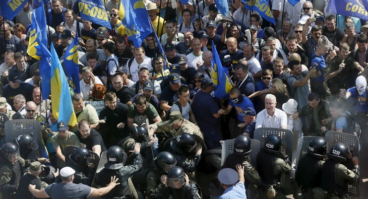 La crise politique s'intensifie en Ukraine avec la défection d'un parti - ảnh 1