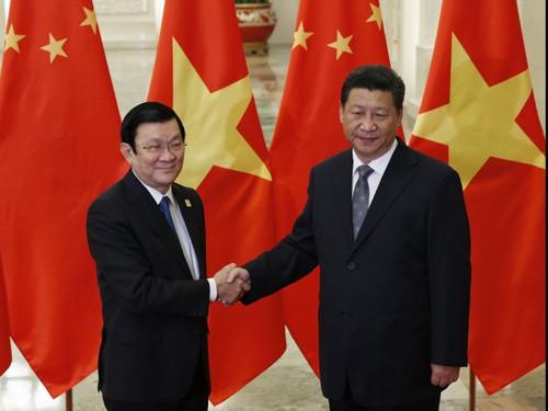 Rencontre Truong Tan Sang-Xi Jinping - ảnh 1