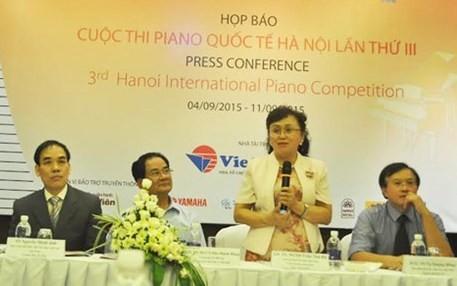 Ouverture du 3ème Concour international de piano de Hanoi - ảnh 1