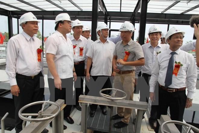 Hoàng Trung Hai inaugure l'usine de traitement des eaux usées de Bac Ninh - ảnh 1