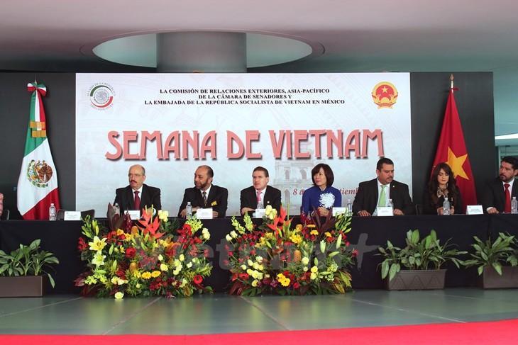 Coup d'envoi de la semaine du Vietnam au Sénat mexicain  - ảnh 1