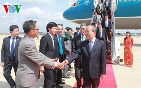 Nguyen Sinh Hung a terminé sa visite aux Etats-Unis - ảnh 1