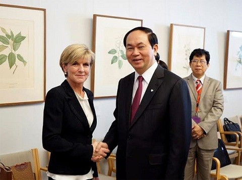 Tran Dai Quang s'entretient avec des officiels australiens - ảnh 1