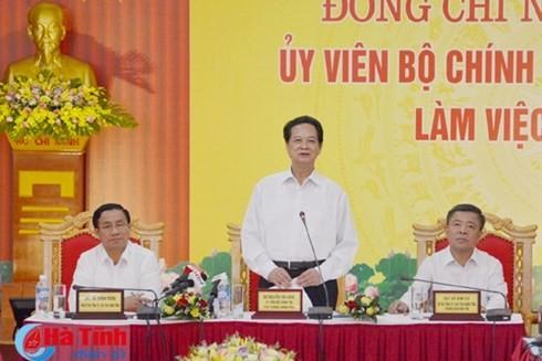 Nguyen Tan Dung: l'économie de Ha Tinh a fortement progressé - ảnh 1