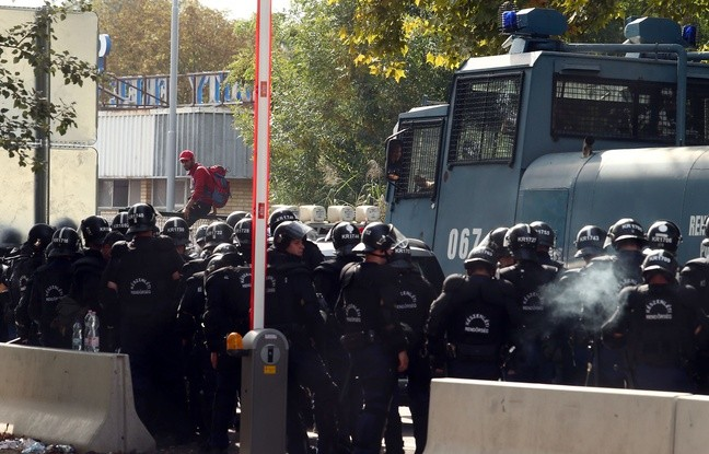 Migrants : la tension monte à la frontière Hongrie-Serbie - ảnh 1