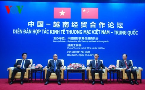 Nguyen Xuan Phuc au forum de coopération économique et commercial Vietnam-Chine - ảnh 1