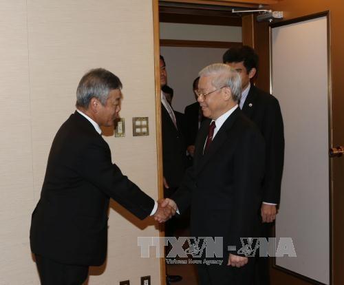 Le PDG du groupe Nikkei reçu par Nguyen Phu Trong   - ảnh 1