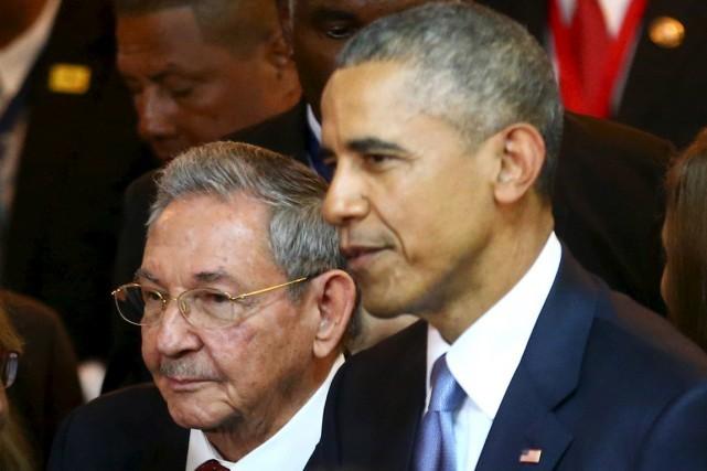 Obama et Castro discutent de leur rapprochement - ảnh 1