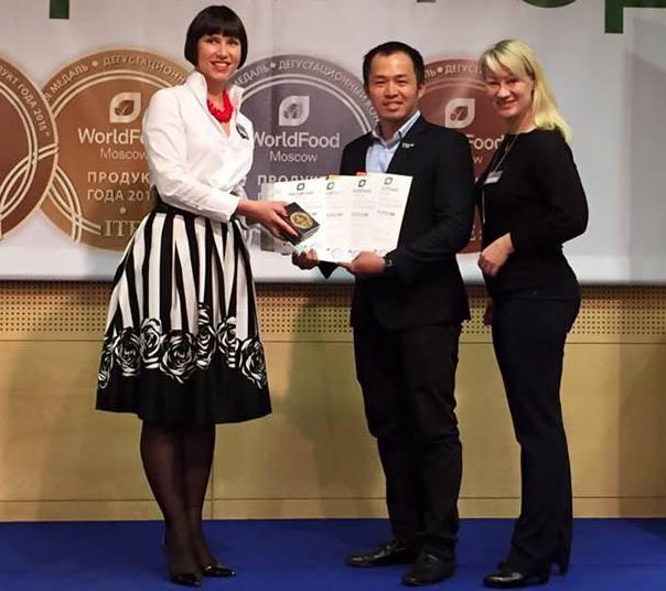 TH True Milk obtient 3 prix d'or au Salon international de l'alimentation de Moscou - ảnh 1