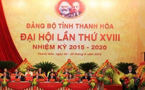 18ème congrès du comité du Parti pour la province de Thanh Hoa - ảnh 1