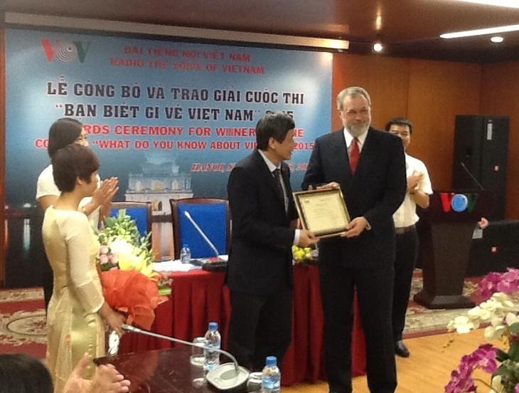 Remise des prix du concours «Que savez-vous du Vietnam 2015» - ảnh 3
