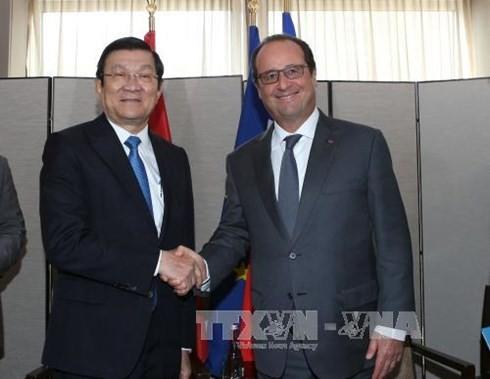 Renforcement des relations vietnamo-francaises - ảnh 1