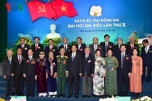 Nguyen Tan Dung au 10ème congrès du comité du PCV pour Dông Nai - ảnh 1