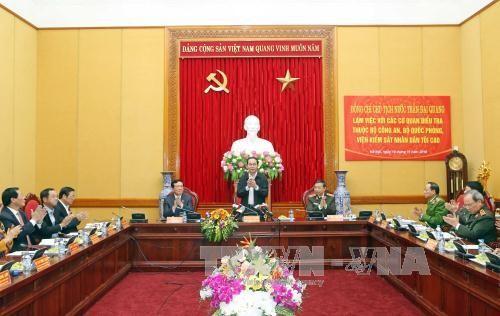 Tran Dai Quang plaide pour une coopération accrue entre les organes d'enquête - ảnh 1