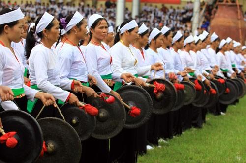 Fête des gongs Mường à Hòa Bình - ảnh 1