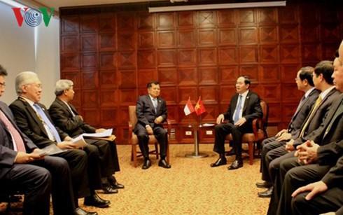 Activités de Tran Dai Quang en marge du 24ème sommet de l'APEC - ảnh 1