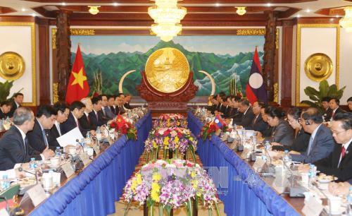 Nguyen Phu Trong rencontre plusieurs hauts dirigeants laotiens - ảnh 2