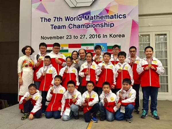 Championnat des sélections de mathématiques: 32 médailles pour le Vietnam - ảnh 1