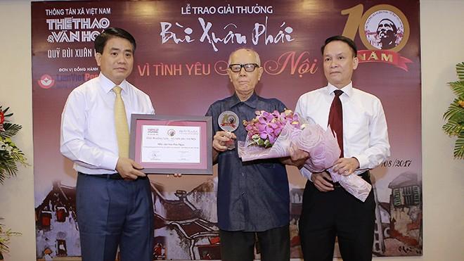 """""""ពានរង្វាន់ Bui Xuan Phai - ដើម្បីសេចក្តីស្រឡាញ់ទីក្រុងហាណូយ"""" - ảnh 2"""
