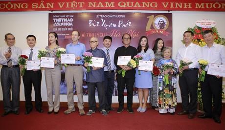 """""""ពានរង្វាន់ Bui Xuan Phai - ដើម្បីសេចក្តីស្រឡាញ់ទីក្រុងហាណូយ"""" - ảnh 1"""