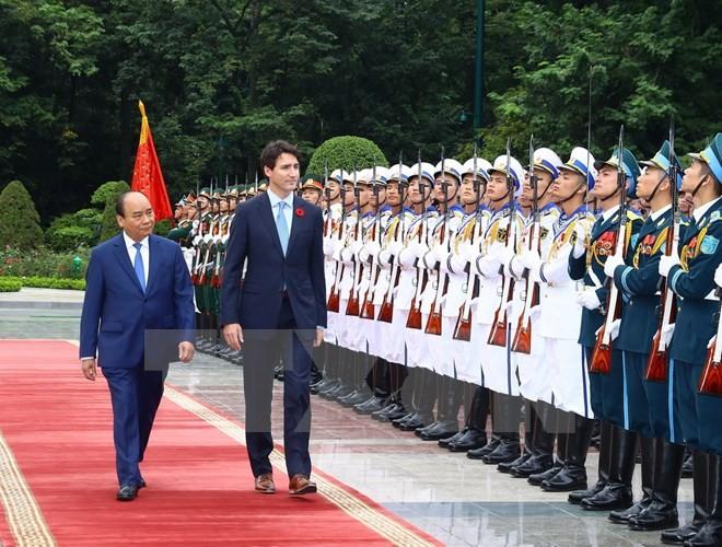 សារព័ត៌មានកាណាដាផ្សាយព័ត៌មានជាច្រើនអំពីដំណើរទស្សនកិច្ចនៅវៀតណាមរបស់នាយករដ្ឋមន្ត្រី Trudeau  - ảnh 1