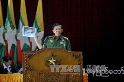 Myanmar menemukan kotak hitam pesawat militer yang kena malapetaka - ảnh 1