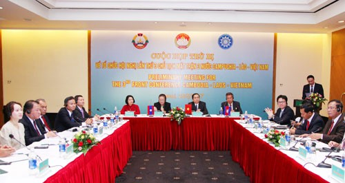 Konferensi Ketua Front 3 negara Kamboja-Laos-Vietnam - ảnh 1