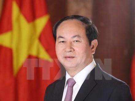 Presiden Vietnam, Tran Dai Quang dan Istri berangkat melakukan kunjungan resmi ke Republik Belarus - ảnh 1