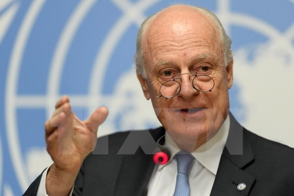 Utusan Khusus PBB merasa optimis tentang perundingan damai Suriah di Jenewa - ảnh 1