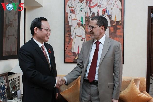 Wakil Ketua MN Vietnam, Phung Quoc Hien melakukan kunjungan di Maroko - ảnh 2