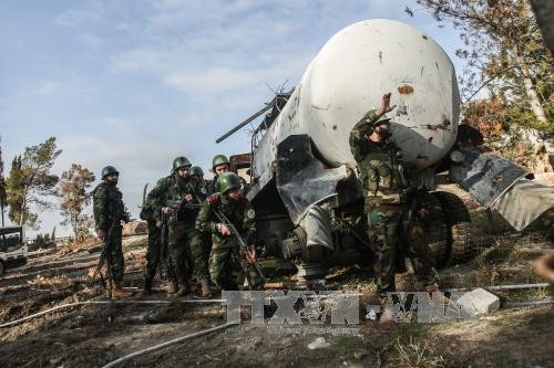 Tentara Pemerintah Suriah dihadang di Ghouta Timur sehingga 28 serdadu tewas - ảnh 1