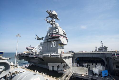 AS memulai penggunaan kapal induk US Gerald R.Ford - ảnh 1