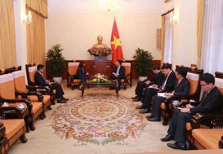 Deputi PM, Menlu Pham Binh Minh menerima Dubes Timor Leste - ảnh 1