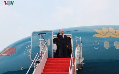 Sekjen KS PKV, Nguyen Phu Trong mengakhiri dengan baik kunjungan resmi di Indonesia, berangkat melakukan kunjungan kenegaraan ke Myanmar - ảnh 1
