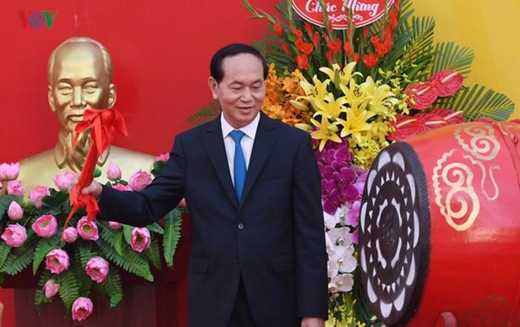 Presiden Tran Dai Quang: Pendidikan merupakan fundasi untuk perkembangan yang berkesinambungan Tanah Air - ảnh 1