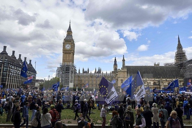 Inggris dan Uni Eropa menunda waktu melaksanakan perundingan selanjutnya tentang Brexit  - ảnh 1