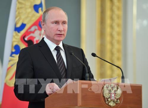 Presiden Rusia, Vladimir Putin mencela sanksi-sanksi ekonomi terhadap Rusia - ảnh 1