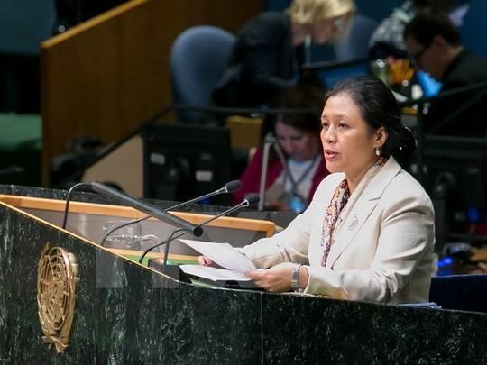 Vietnam berkomitmen bekerjasama  dengan PBB memperkuat hukum untuk melaksanakan target-target perkembangan yang berkesinambungan - ảnh 1