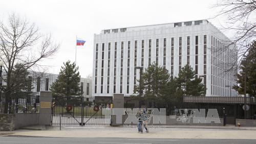 Rusia mempertimbangkan langkah-langkah memberikan balasan terhadap AS yang bersangkutan dengan basis-basis diplomatik - ảnh 1
