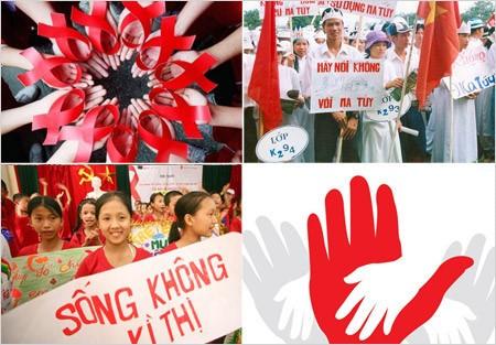 Kota Hanoi menggelarkan banyak aktivitas praksis dalam Bulan Aksi pencegahan dan pemberantasan penyakit HIV/AIDS - ảnh 1