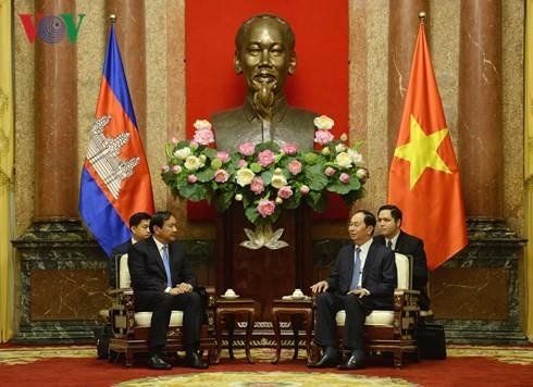 Presiden Vietnam, Tran Dai Quang menerima Menteri Senior, Menlu dan Kerjasama Internasional  Kamboja - ảnh 1