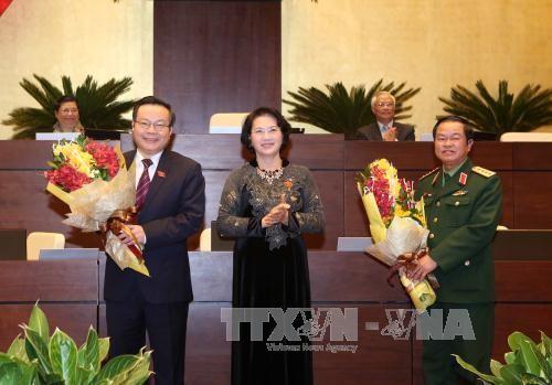 越南国会选举产生两位新国会副主席 - ảnh 1
