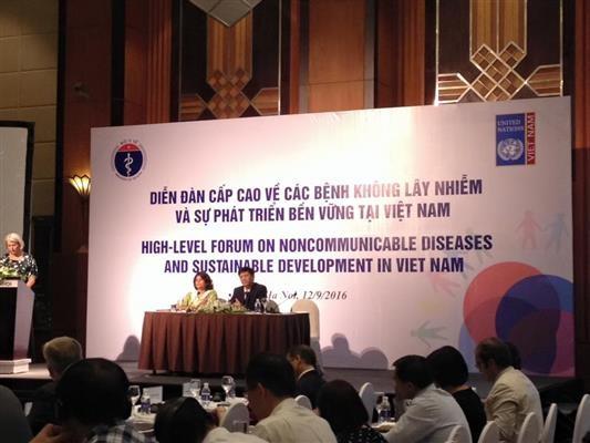 越南举行非传染性疾病及可持续发展高级论坛 - ảnh 1