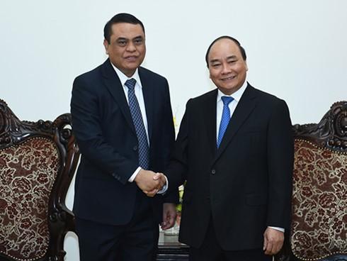 阮春福会见中国公安部长郭声琨和印度尼西亚国家警察副总长夏弗汀 - ảnh 2
